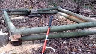 Building A Log Cabin...