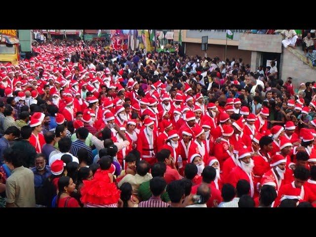 Buon Natale Thrissur.Buon Natale 2014 Thrissur Xmas Santa Claus Teddy Bear Elephant