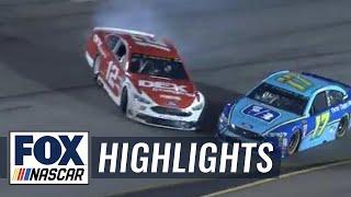Brad Keselowski narrowly escapes wreck between Blaney & Stenhouse Jr. | 2018 RICHMOND | FOX NASCAR