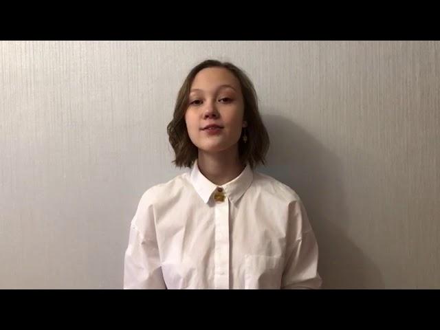 Изображение предпросмотра прочтения – АленаСтрокатова читает произведение «Черёмуха» С.А.Есенина