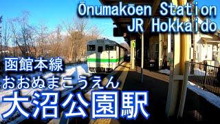 JR北海道 函館本線 大沼公園を探検してみた Ōnumakōen Station. JR Hokkaido Hakodate Main Line