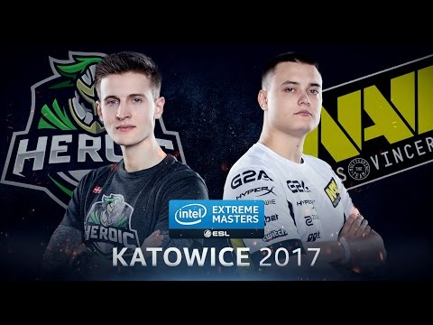 CS:GO - Heroic Vs. Na'Vi [Mirage] - Group B - IEM Katowice 2017