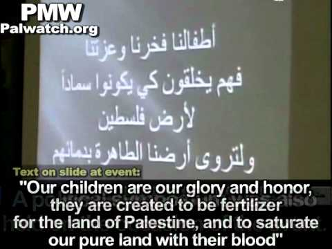 """Kids are """"created to be fertilizer for land of Palestine, to saturate land with their blood"""""""