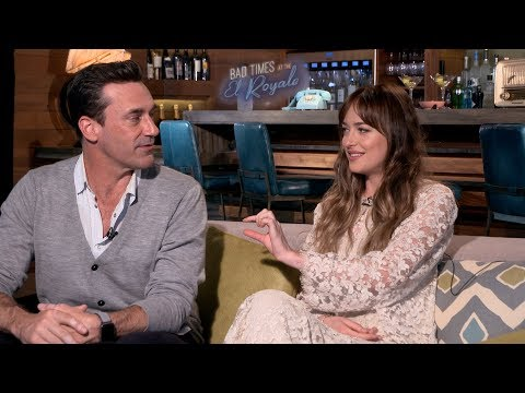 Dakota Johnson & Jon Hamm Flirt During BAD TIMES AT THE EL ROYALE Interview