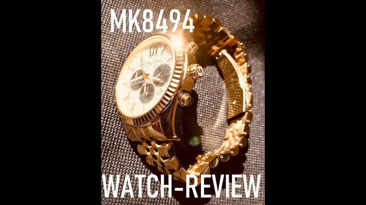 b33a3dd553f9 Michael Kors Men s Watch MK8494 Review-Unboxing (The golden Michael Kors  watch )