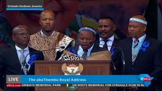 The abaThembu Royal Address to Winnie Mandela - Part 2