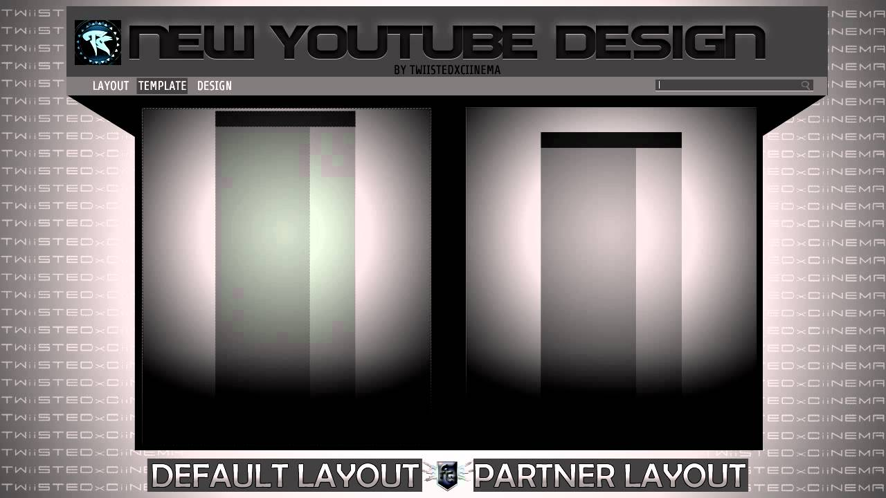 New youtube background templates photoshop (partner + standard.