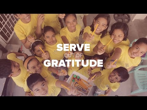 Grow in Love - Serve out of Gratitude - Peter Tan-chi
