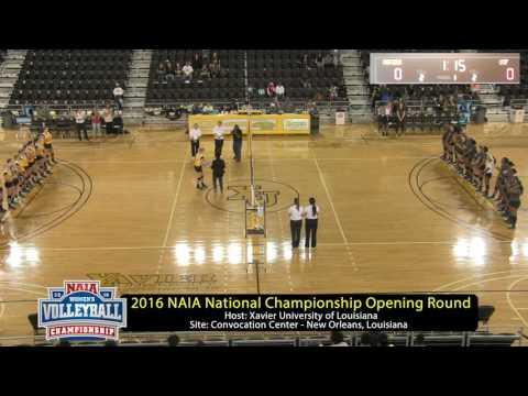 2016 NAIA Volleyball National Championship St. Francis (Ill.) at Xavier (La.)