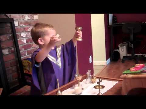 Isaiah Saying Mass - 3 Years Old