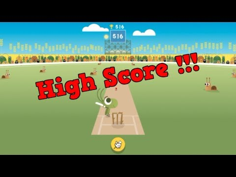 Highest Score On Google Doodle Cricket 516