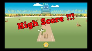 Highest Score On Google Doodle Cricket !!! 516!!!
