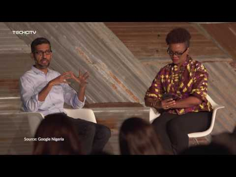 Google CEO, Sundar Pichai Keynote interview with Adesuwa Onyenokwe in Nigeria