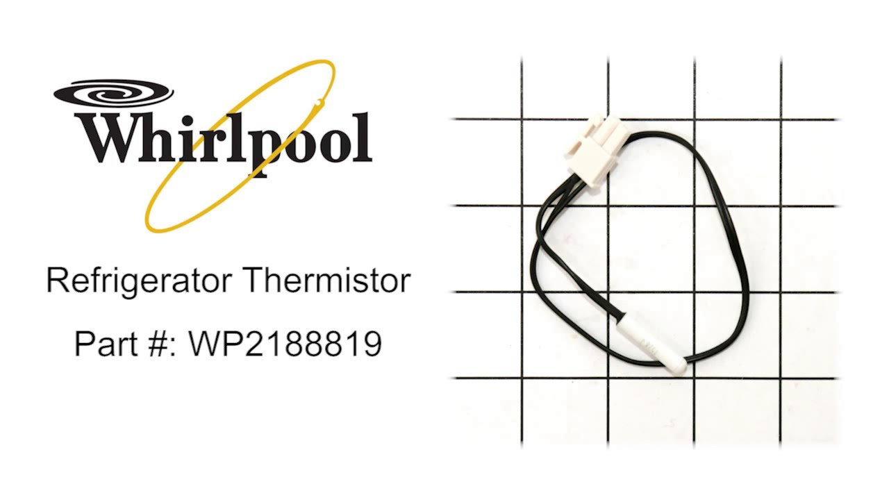 maxresdefault whirlpool refrigerator thermistor part wp2188819 youtube maytag refrigerator thermistor location at soozxer.org