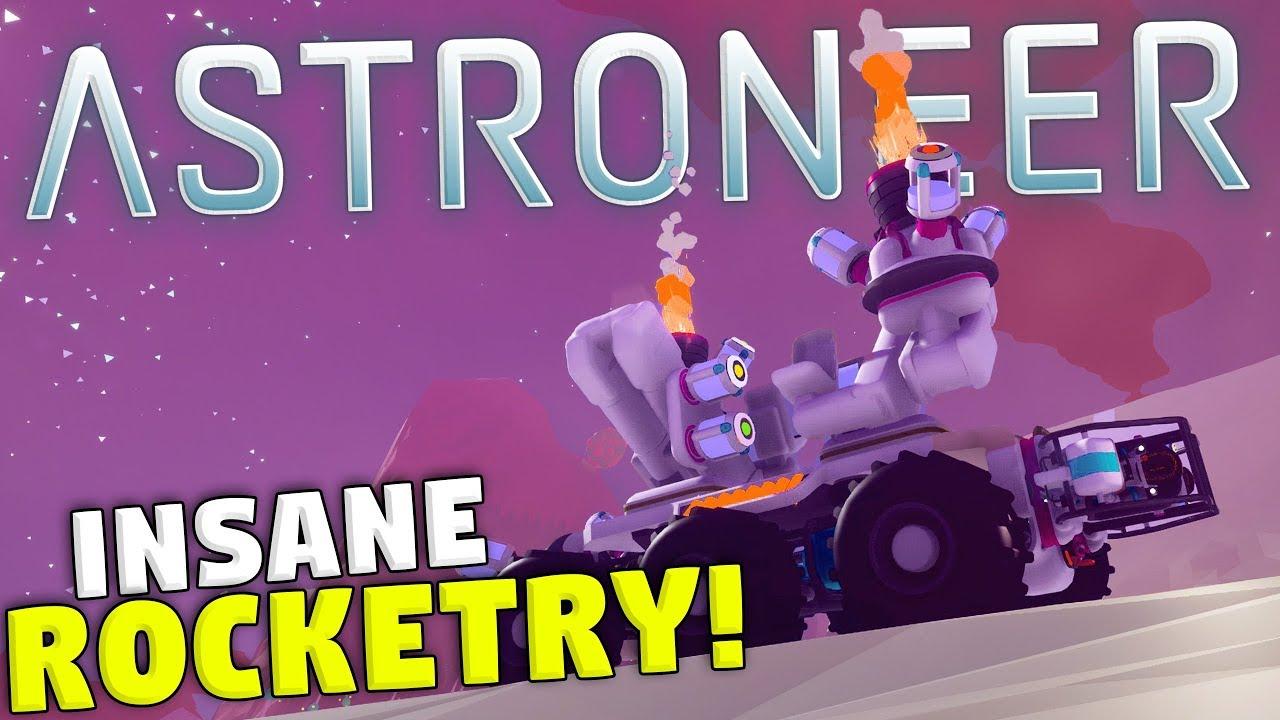 UNREAL Rocket Cars in Astroneer! - New Creative Sandbox