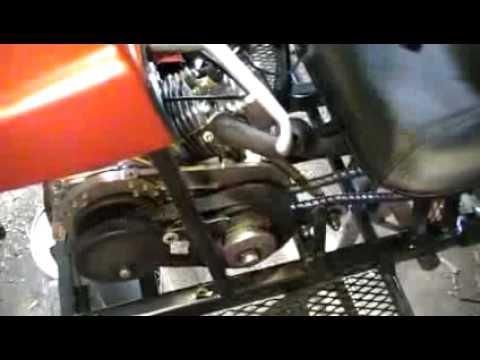 Transmission Torque Converter >> Comet CVT Go Kart Clutch Demo - YouTube