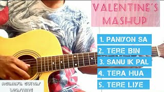 Valentine's Mashup - 4 Open Chords, Total Beginners Guitar Lesson+Cover