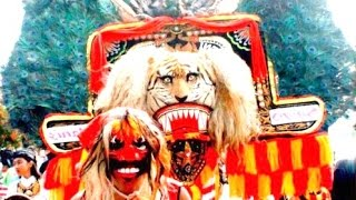 Atraksi 20 DADAK MERAK Reog Ponorogo - Giant Mask Dance [HD]