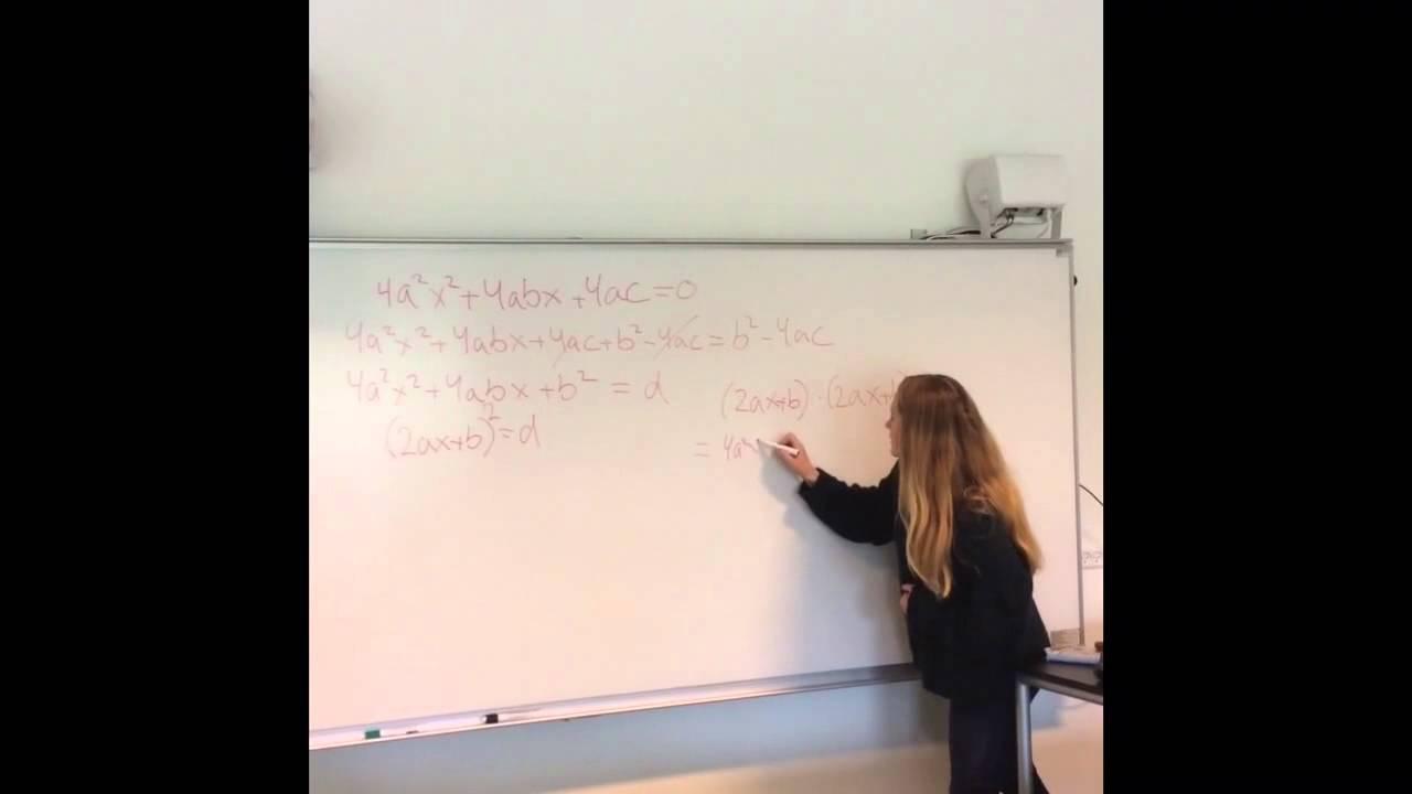 Løsning af andengradsligning 4.2