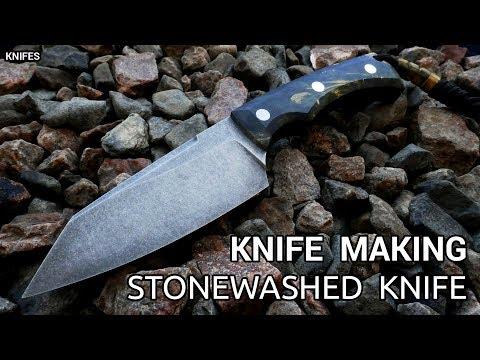 Knife Making - Stonewashed Knife