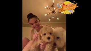 Selena gomez cute reactions with her ...