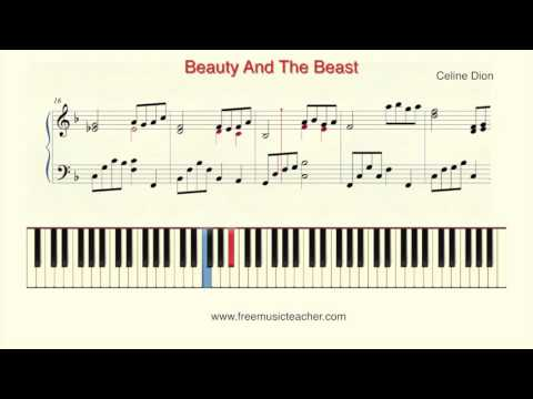 """How To Play Piano: Celin Dion """"Beauty And The Beast"""" v2"""