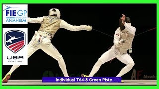 FIE Grand Prix Anaheim 2nd Color Zone Piste Green T64-T08