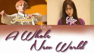 How Would Jungkook(BTS) x Yuju(GFRIEND) sing A Whole Ne World (Ost.Aladin) with lyric (eng/indo)