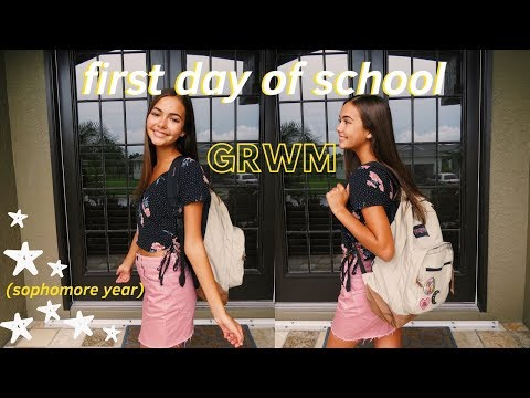 Get Ready With Me: First Day Of High School!! (Sophomore Year)