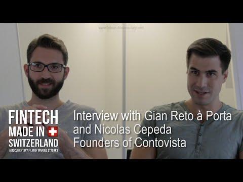 """""""FinTech Made in Switzerland"""": Interview Gian Reto a Porta and Nicolas Cepeda, Contovista"""