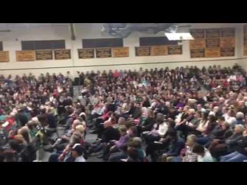 Bernie Sanders speaks at Burr and Burton Academy