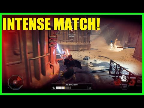 Star Wars Battlefront 2 - Huge infantry killstreak! | Really tough match!  (Vader, Maul & Palp)