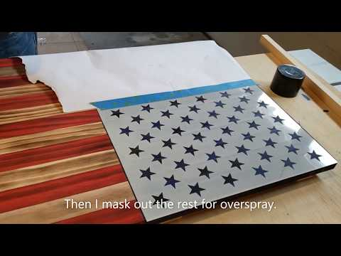Super Easy Wooden American Flag Build - DYI