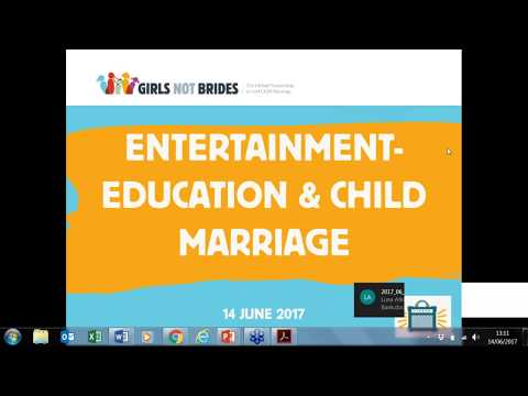 Webinar: using entertainment-education to end child marriage