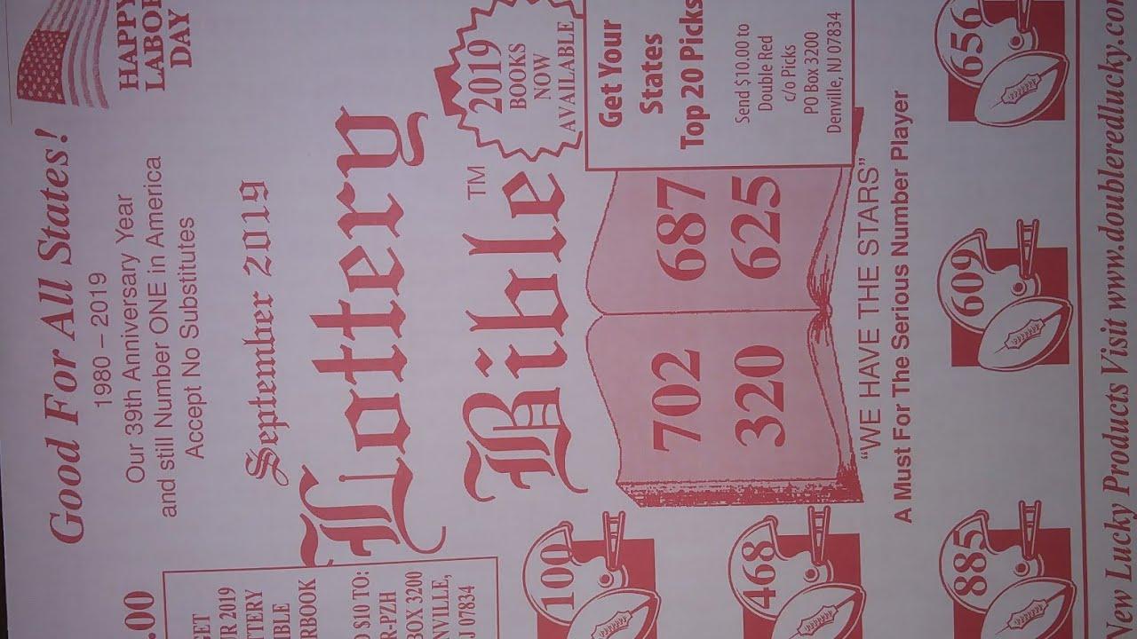 Lottery Bible -3&4 digit picks for September2019