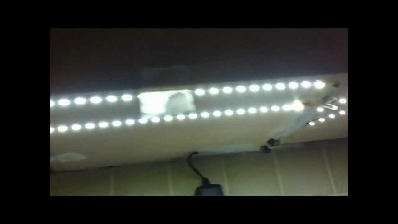 Led Kitchen Light How To Install Led Strip Lights Under Kitchen Cabinets Youtube
