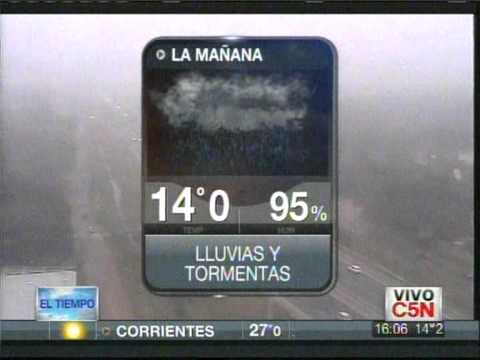 C5N - EL TIEMPO - PRONÓSTICO EXTENDIDO 16/08/2012