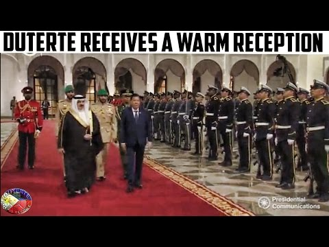GRABE OH! KING OF BAHRAIN HAMAD BIN BINIGYAN NG NAPAKA SPECIAL WELCOME CEREMONY Si PRES.DUTERTE