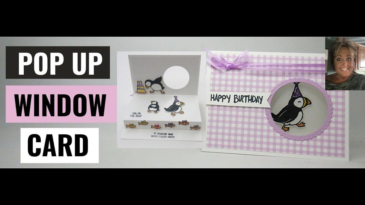 Amazing Puffins Pop  Up  Window  Card
