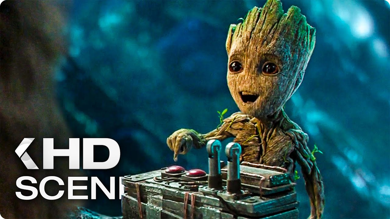 baby groot dont push this button clip 2017 guardians