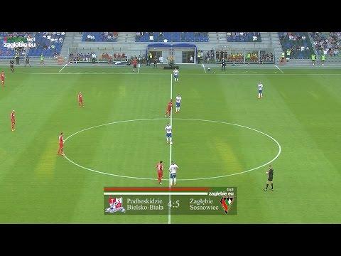 Bramki z meczu Podbeskidzie Bielsko-Biała - Zagłębie Sosnowiec (4:5)