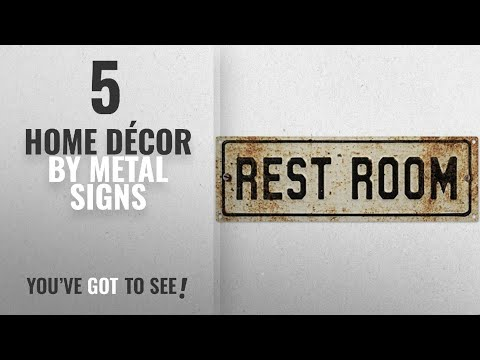 Top 10 Home Décor By Metal Signs [ Winter 2018 ]: Restroom Embossed Look Rusted Bathroom Metal Sign