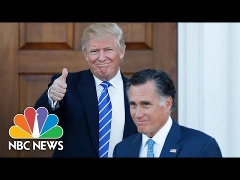 Will Mitt Romney's Potential Senate Run Reignite Donald Trump Feud?   NBC News