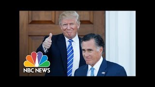 Will Mitt Romney's Potential Senate Run Reignite Donald Trump Feud? | NBC News