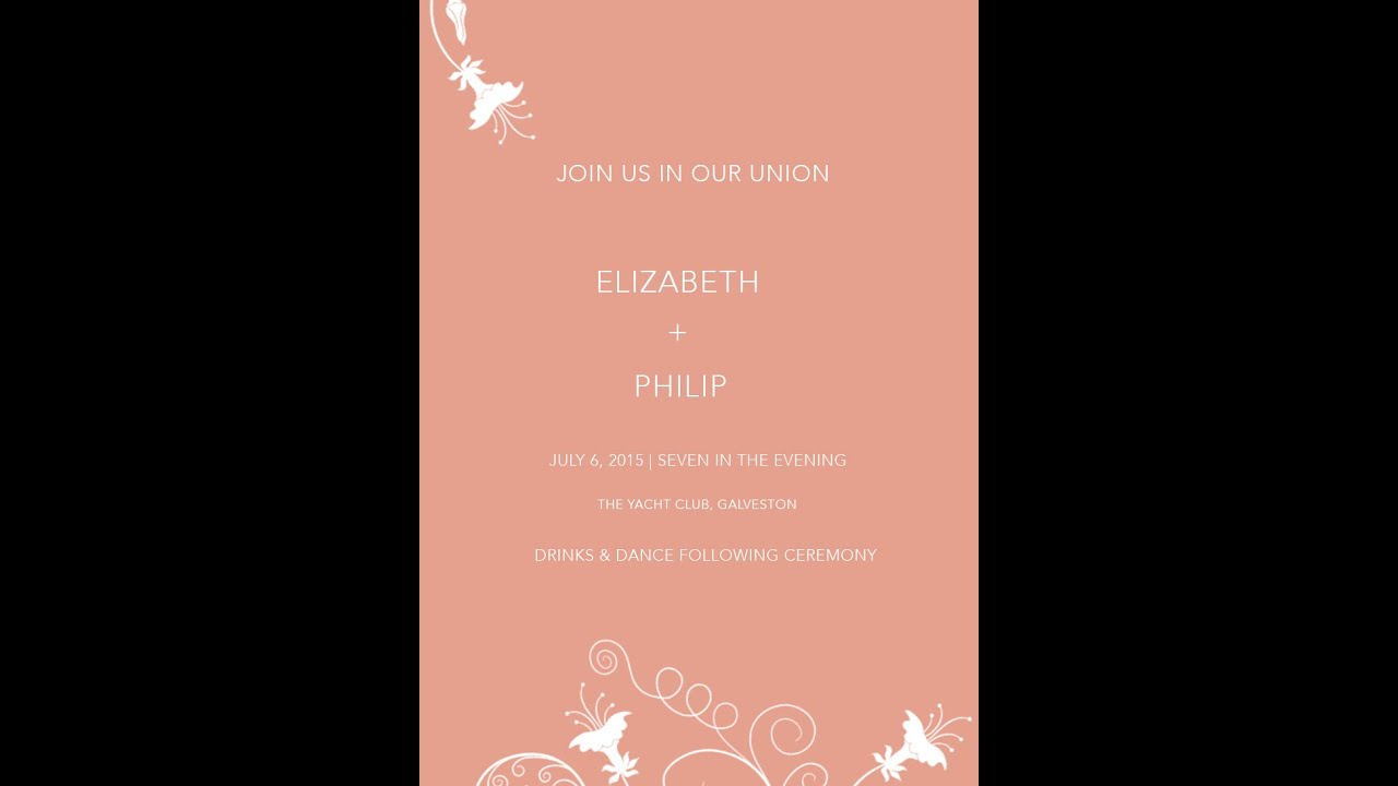 How To Design A Simple Wedding Invitation In Photoshop