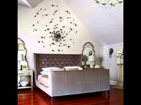 diy wall art design decorating ideas for bedroom - youtube