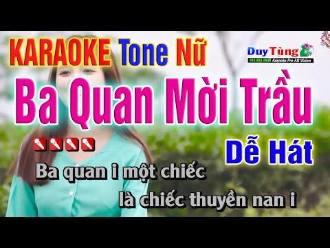 Karaoke    Ba Quan Mời Trầu - Tone Nữ    Nhạc Sống Duy Tùng