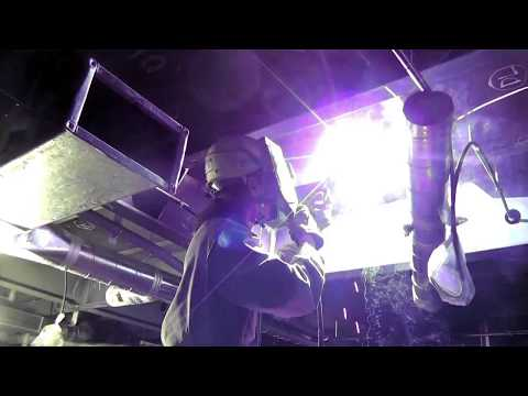 CALMMOON Sheet Vessel Construction Video. [Chapter 3] 5. Welding to the ceiling surface