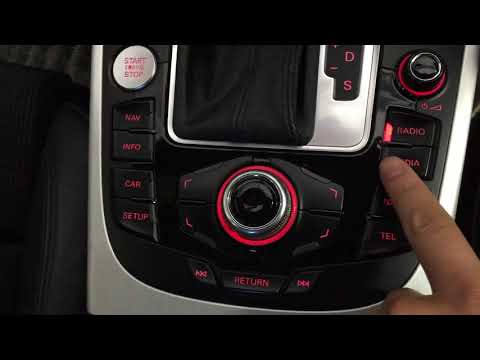 Audi A4 japan import with MMI3G system to do NZ radio GPS and camera part 1