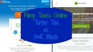 TurboTax vs H&R Block   Review!